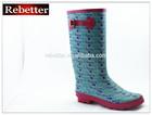 Sexy high heel ladies rubber rain boots wholesale