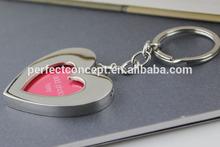 New Metal Heart Shaped Photo Frame Key chain, digital photo key chain KC-03