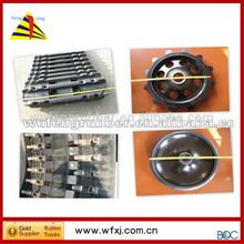 Bandvagn crawler carrier rubber aprone wheel