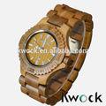 bewell ألفا الجيش الخشب ساعة اليد الخشبية العضوية الطبيعية الجديدة