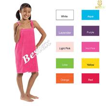 Luxury Adjustable Kids Children Shower Wrap Towel Dress beach