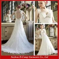 WD-1716 Beautiful lace keyhole wedding dress trumpet wedding dress patterns lace wedding dresses with keyhole back