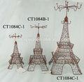 2014 nuevo torre eiffel de metal decoración de hogar de hierro de estilo