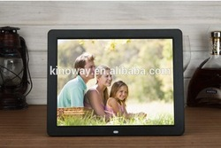 HOT! 12inch LCD screen video/music/photo support wall hanging digital photo album