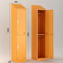 Green Color Knock Down Sloping Top Metal Double Door Locker/Bosch Door Locker