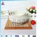 Keramikschale mit tier aufkleber/Keramik salatschüssel