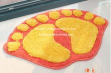 Acrylic Anti Slip Bathroom Mat irregular Foot Floor Mat Shaggy Rugs