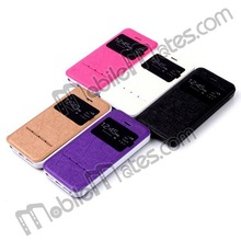 2014 Hot Selling View Window Smart Leather Case for iPhone 5S, for iPhone 5 Smart Sliding Function Case