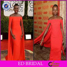 2014 moda africano Red Chiffon vestido de festa para a mulher preta