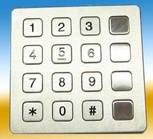 Stainless steel keypad 4x4