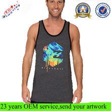 Screen Printing Logo Men Custom Muscle Tank Top Wholesale