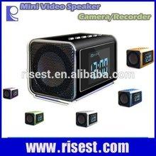 Hot Sale Mini Speaker Night Vision Clock Camera Nanny Cameras Hidden Surveillance Cameras for Home RE-MVS01