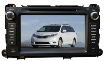 2 Din Car dvd with GPS(optional) For Toyota Sienna Bluetooth/Ipod/MP3