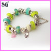 Customized 925 sterling silver colorful european beads fit for snake chain charms bracelet