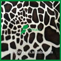 China factory wholesale print minky velour/ef velboa