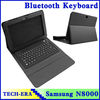 wireless keyboard leather cover with bluetooth function for Samsung Galaxy tablet note N8000 10.1,Touch pad