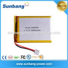 Rechargeable li polymer 3.7V 3800mAh bttery (Sunb349395 / 105164)