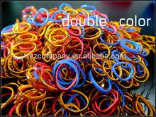 BIcolor Dot Loom Bands for Kids Toys Hot Selling New Style Loom Bands Twistz Bandz (600 loom bands+24 Clips)