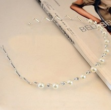 Silver Plated Crystal Rhinestone Bridal Headband Tiara Hair Band