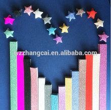 glitter lucky star origami