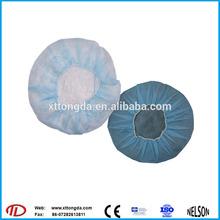 2014 blue bouffant caps/disposable printed bouffant cap