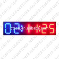 Outdoor Waterproof Large Display LED Wall Timer Digital Race Clock