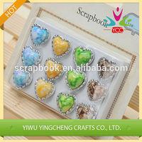 heart shape pearl brads