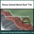 Ondulado telhas de pedra- hexagonal revestido- tipo de vedação de metal telha
