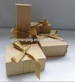 البني الفاتح مع الشريط هدية الورق المطبوع مربع كرافت المعاد تدويره مخصص هدية مجموعات