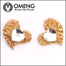 Diamonds earrings heart shaped