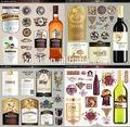 Mejor diseño de botella de champú de la etiqueta, botella de vino etiqueta del cuello, para las etiquetas de los envases de alimentos