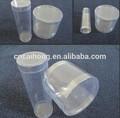 cilindro de plástico transparente contenedores
