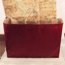 Client first customized matt or grossy paper bag