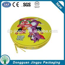 Dongguan special round cute metal cd dvd tin case