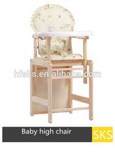 bebek ahşap gıda sandalye
