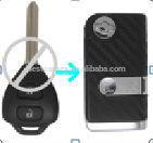 Topbest remote key toyota rav4 key, TOYOTA Carola VIOS,RAV4 2 buttons remote key case