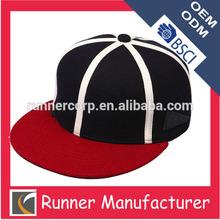 Famous brand custom logo leather plain snapback cap