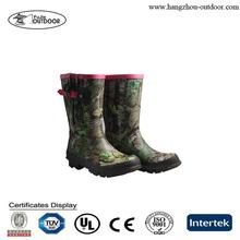 Mid-cut Rubber Boots,Camo Rain Boots,Camo Hunting Boots