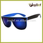 Custom printed plastic wholesale sunglasses blue frame wayfarer sunglasses out door sports sun glasses