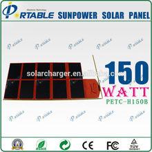 150w | 180w 12v Sunpower folding solar panel for battery | phones | laptop | tablet PC