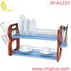 JP-A1227 Hot Selling With Tray & Wooden Stand Metal Kitchen Dish Rack