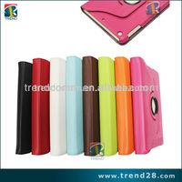 2014 new arrival 360 rotary folio leather cover case for ipad mini