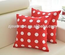 Digital printed car home office sofa decorative microfiber filled colored dot pillows