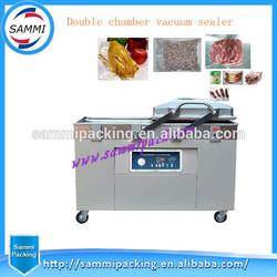 dual-chamber plastic bag vacuum packaging machine,package sealing&shrinking sealer&shrinker equipment food/fruits saver