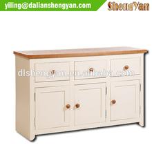 Modern Unique White Oak Lacquered Storage Cabinet Sideboard