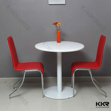 Acrylic solid surface food court chairs tables , japanese dining table