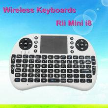 Hot Sale 2.4G Rii Mini i8 Wireless Keyboard Touchpad for Tablet PC iPad Mini Google Andriod Smart TV Box Xbox360 PS3 HTPC/IPTV
