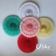 wedding paper lanterns, tissue fans, honeycomb ball