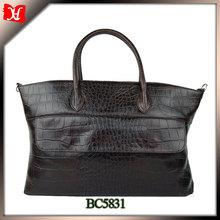New designer lady crocodile hand bag fashion genuine leather hand bag