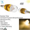 kinds of energy saving lamps 6000k 4w led bulb e14 12v dc led light bulb